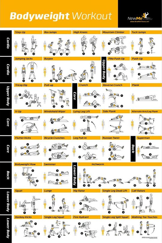 Bodyweight Workout Poster Newme1